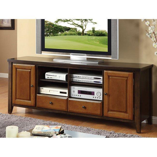 Espresso and Cherry 72 Inch TV Console