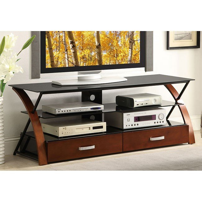 Two-Tone Modern 60 Inch TV Console