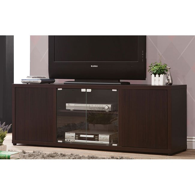 60 Inch TV Console w/ Glass Doors