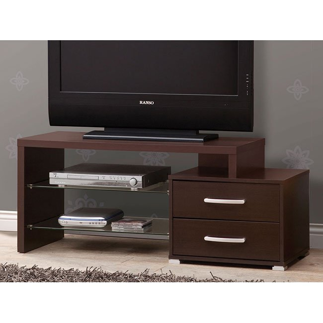 Contemporary Cappuccino Small TV Console