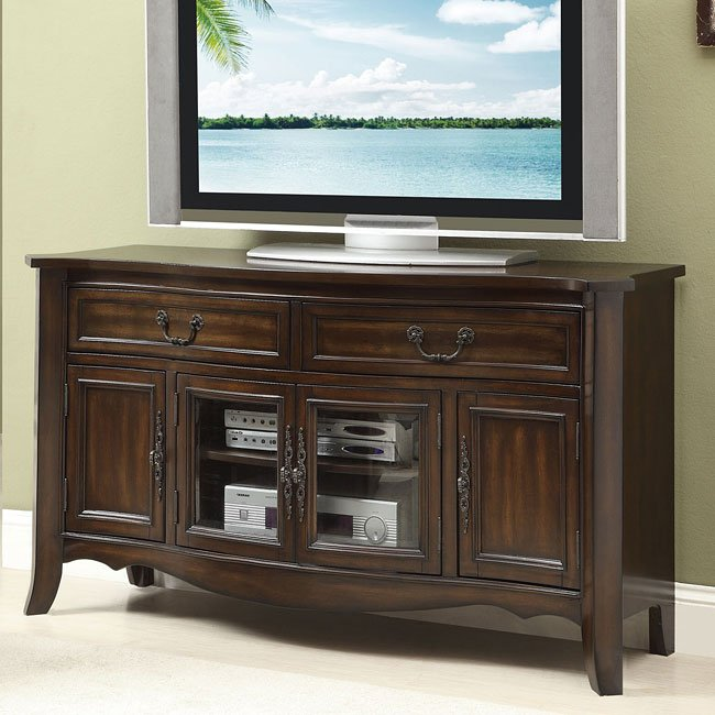 Traditional Cherry Finish TV Console