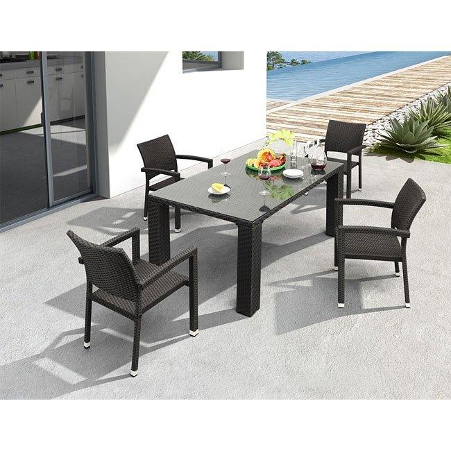 Boracay Outdoor Dining Set (Espresso)
