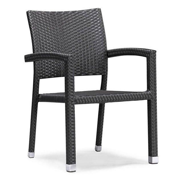 Boracay Outdoor Dining Chair (Espresso) (Set of 2)