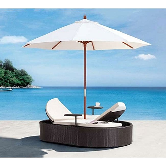 Hampton Outdoor Double Chaise Lounge (Espresso)