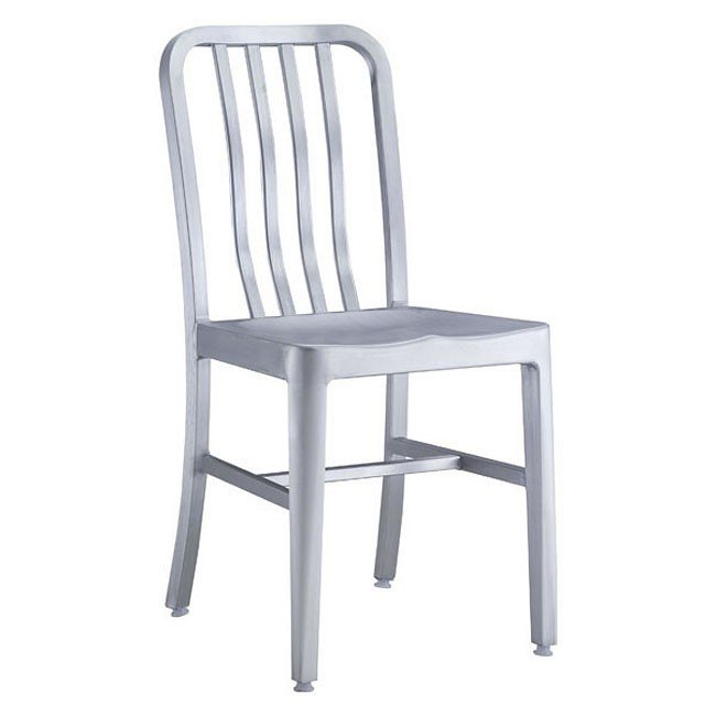 Gastro Outdoor Dining Chair (Brushed Aluminum) (Set of 2)