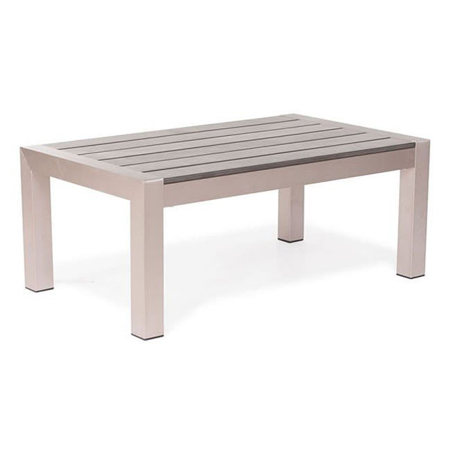 Cosmopolitan Outdoor Coffee Table (Brushed Aluminum)