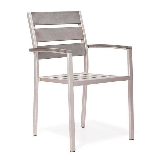 Metropolitan Outdoor Dining Slated Arm Chair (Set of 2)
