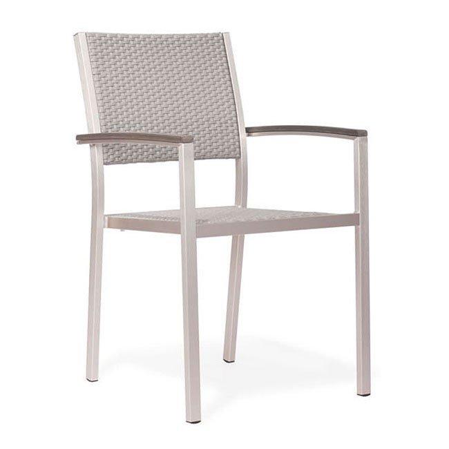 Metropolitan Outdoor Dining Arm Chair (Set of 2)
