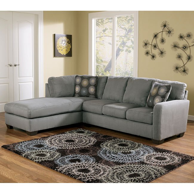 Zella - Charcoal Left Facing Chaise Sectional