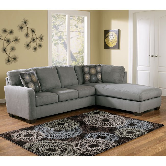 Zella - Charcoal Right Facing Chaise Sectional