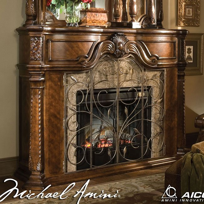 Windsor court fireplace aico furniture furniture cart for Aico windsor court living room