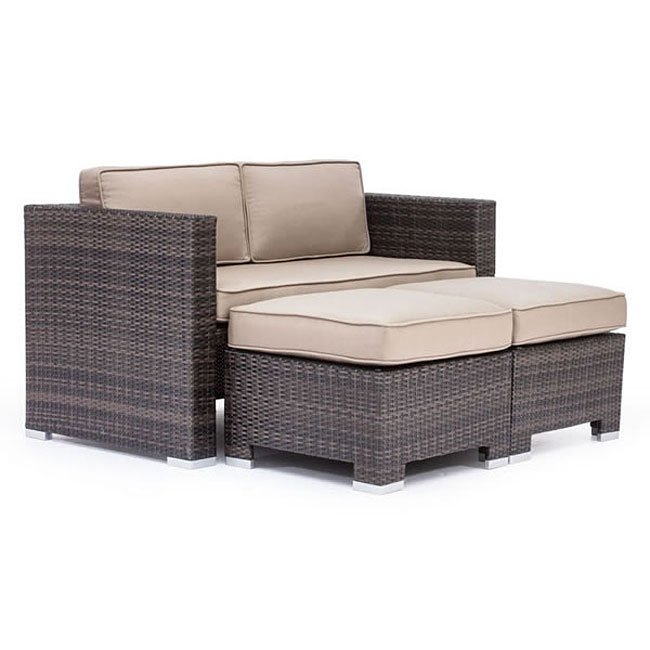 Charmant Deep Water Outdoor Loveseat Dining Set (Brown)