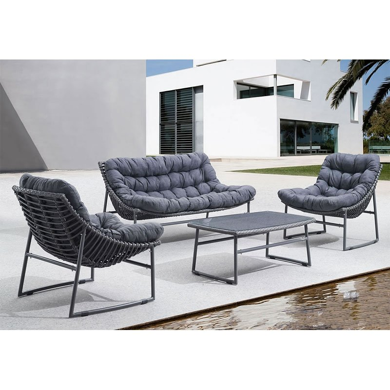 Ingonish Beach Outdoor Seating Set (Grey)