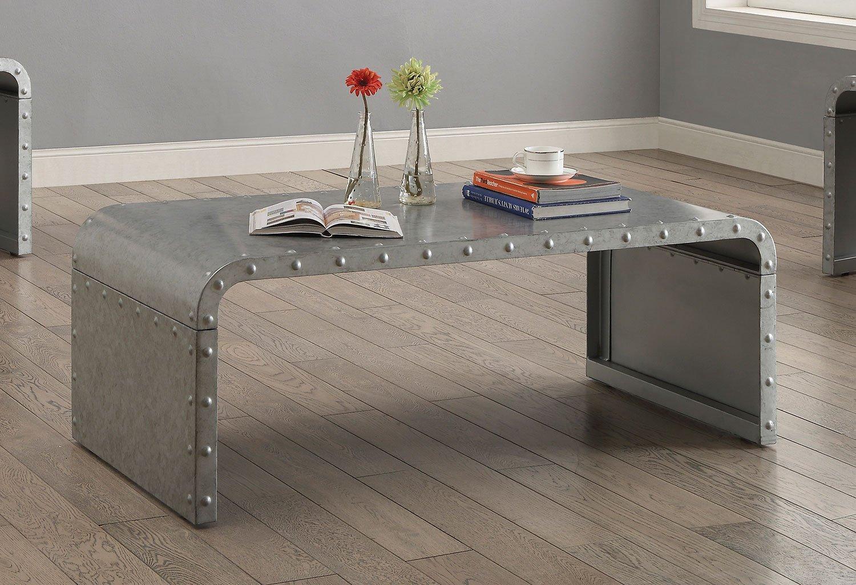 Galvanized Metal Coffee Table Coaster Furniture
