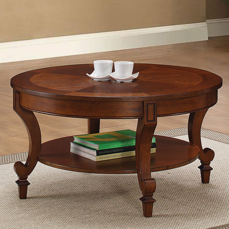 Coffee Table Legs Brown: Warm Brown Coffee Table W/ Curved Legs Coaster Furniture