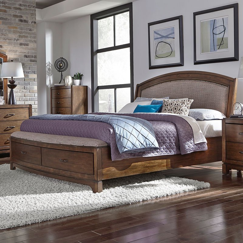 Avalon Iii Upholstered Storage Bed Liberty Furniture