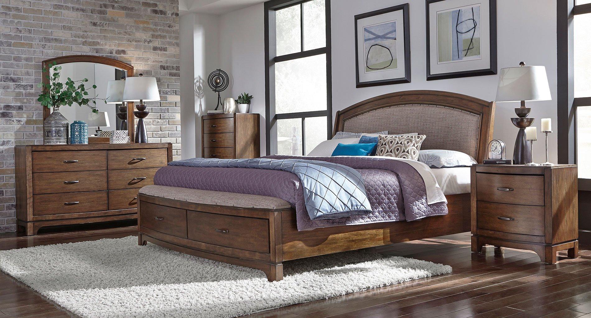 Avalon III Upholstered Storage Bedroom Set Liberty