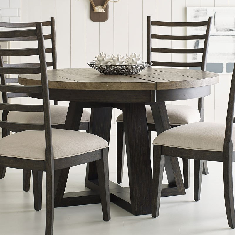 plank road button dining table (charcoal) kincaid furniture Charcoal Dining Table