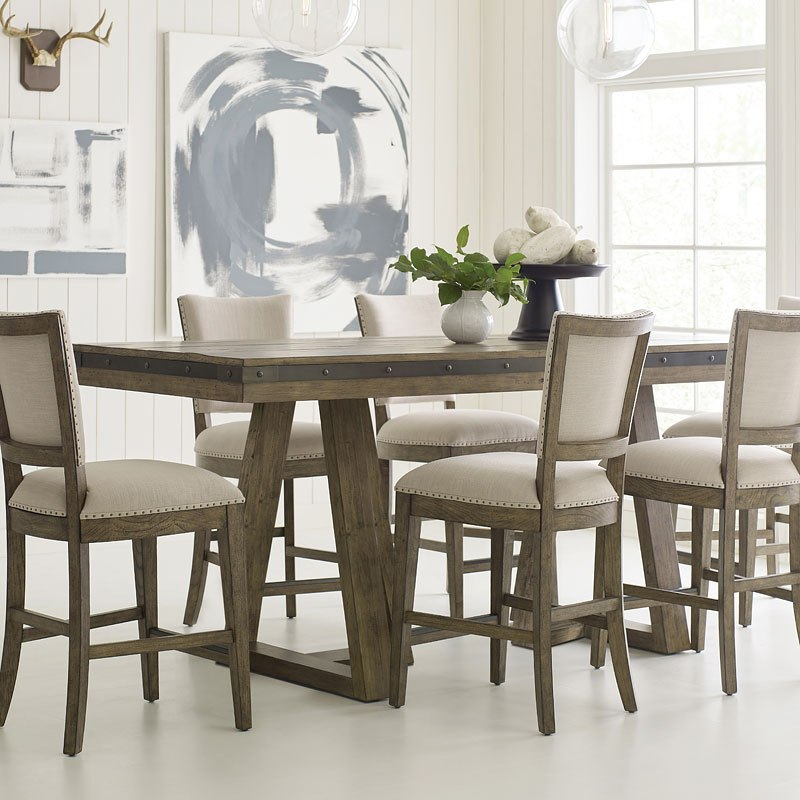 Plank Road Kimler Counter Dining Table (Stone)