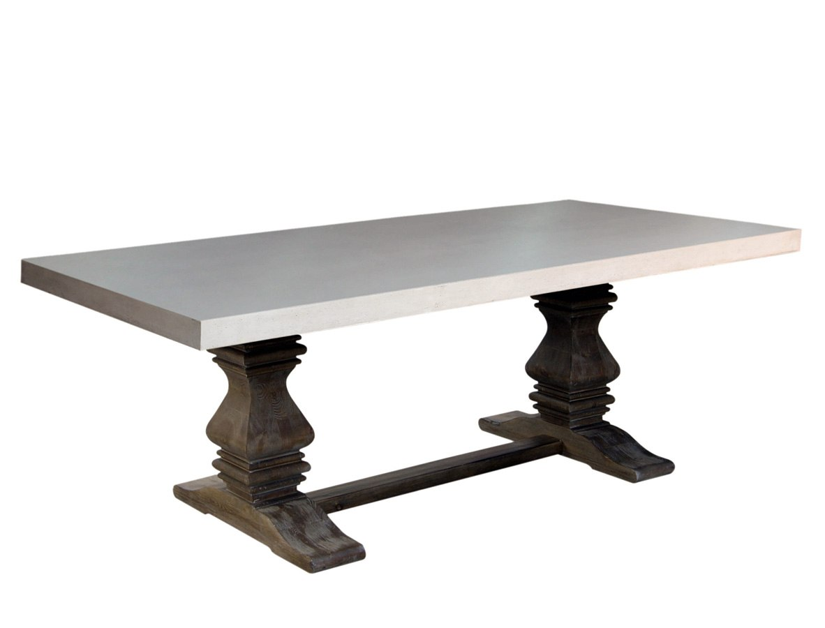 concrete top dining table. Bronson Concrete Top Dining Table
