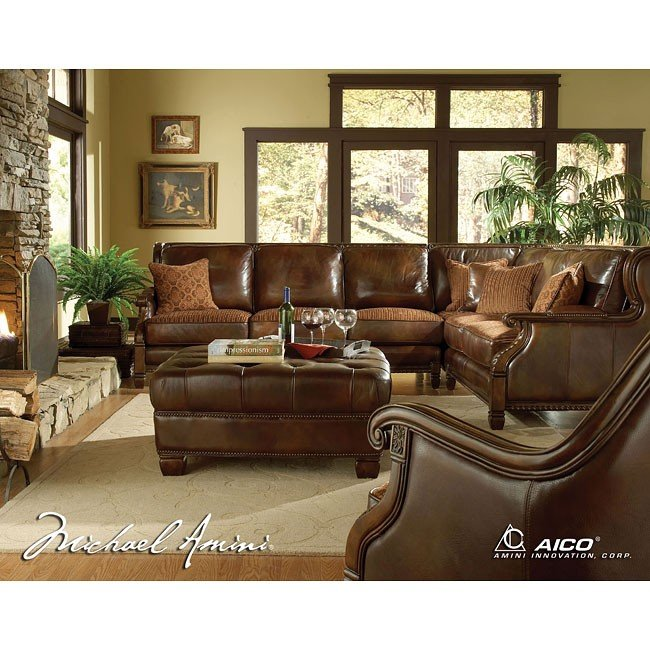 Windsor Court Sectional Living Room Set Aico Furniture