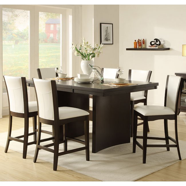 Dining Room Chair Height: Daisy Counter Height Dining Room Set With White Chairs