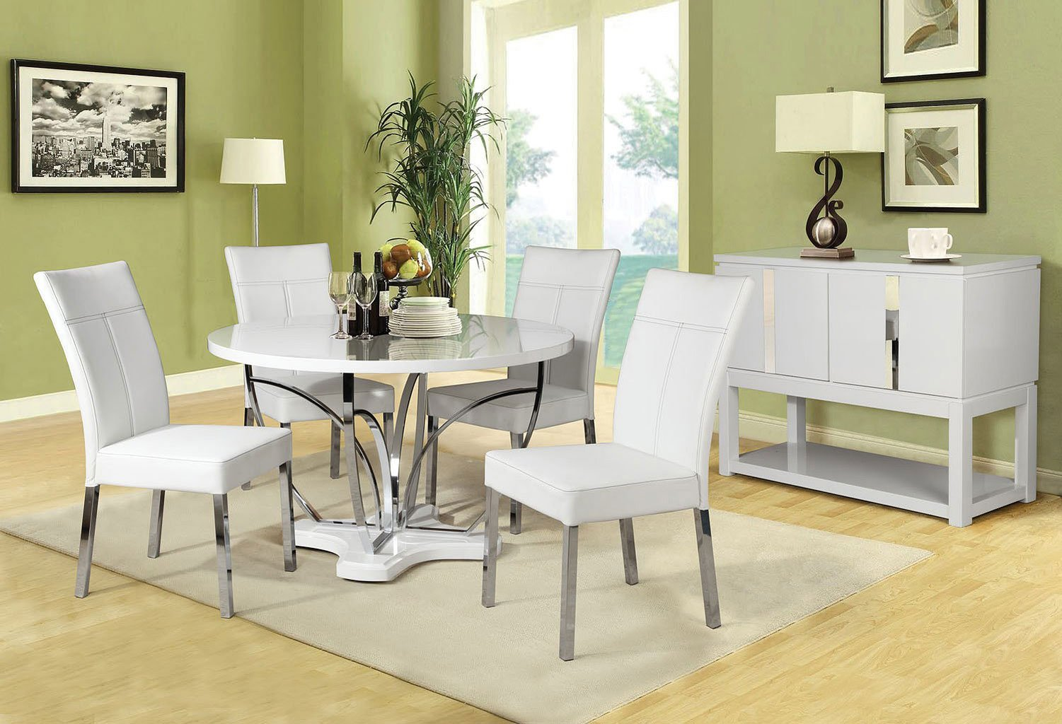 Ezra Dining Room Set W/ Danny Chairs Acme Furniture | Furniture Cart