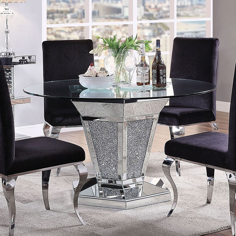 Noralie Round Dining Room Set Acme Furniture