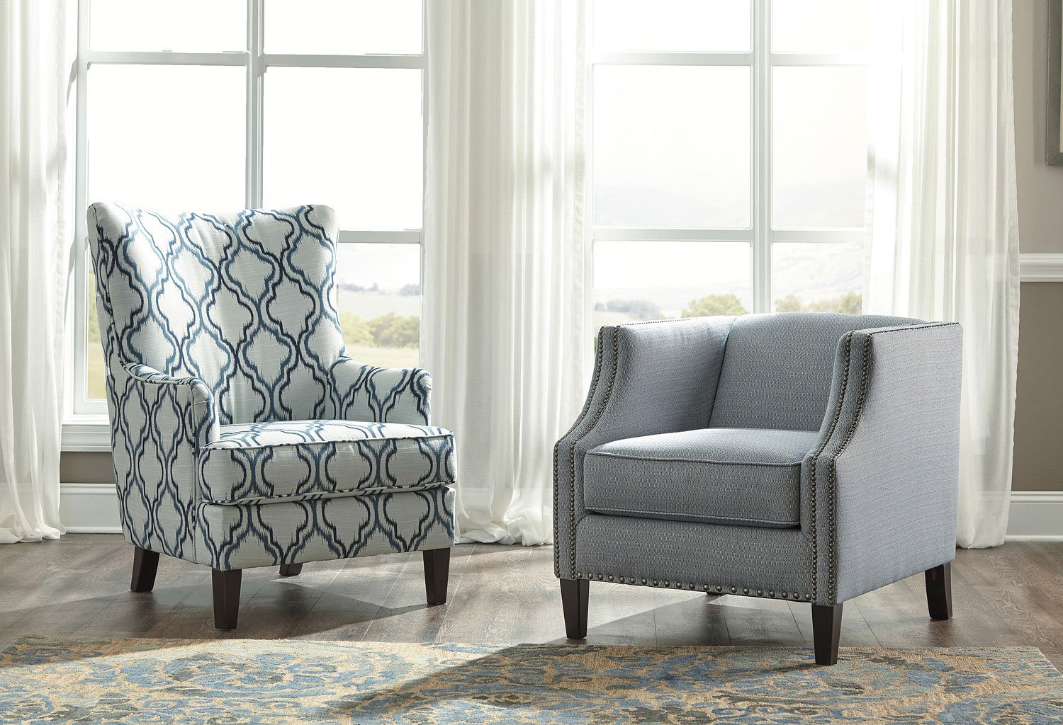 Magnificent Lavernia Indigo Accent Chair Gmtry Best Dining Table And Chair Ideas Images Gmtryco