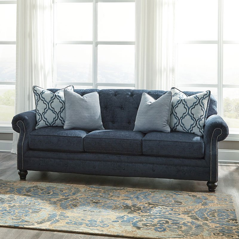 Lavernia Navy Living Room Set Benchcraft Furniture Cart