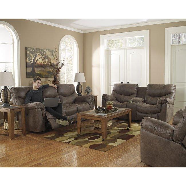 Alzena Gunsmoke Reclining Living Room Set Signature Design