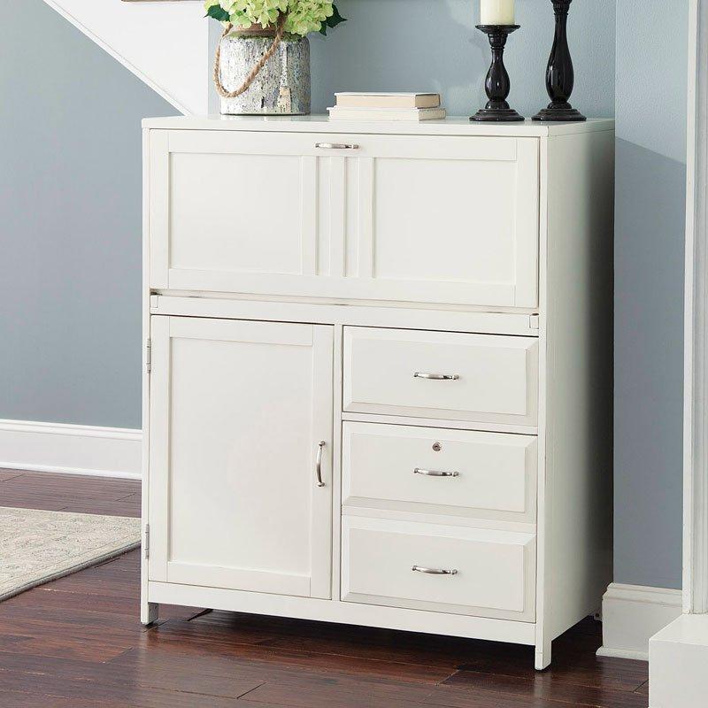 Hampton Bay Computer Cabinet (White)