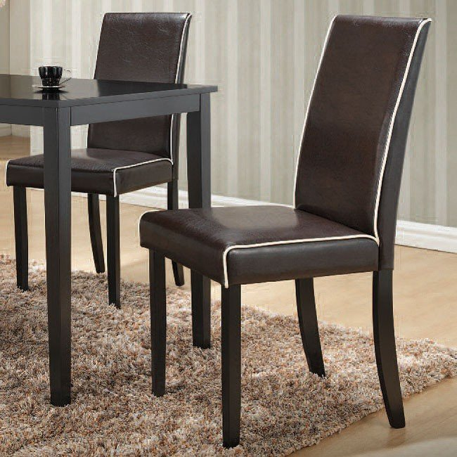 Kitchen Furniture Houston: Houston Side Chair (Black) (Set Of 2) Acme Furniture
