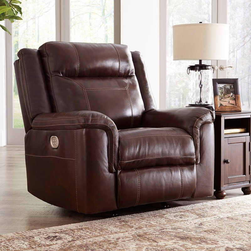 Awesome Wyline Coffee Power Recliner W Adjustable Headrest Pdpeps Interior Chair Design Pdpepsorg