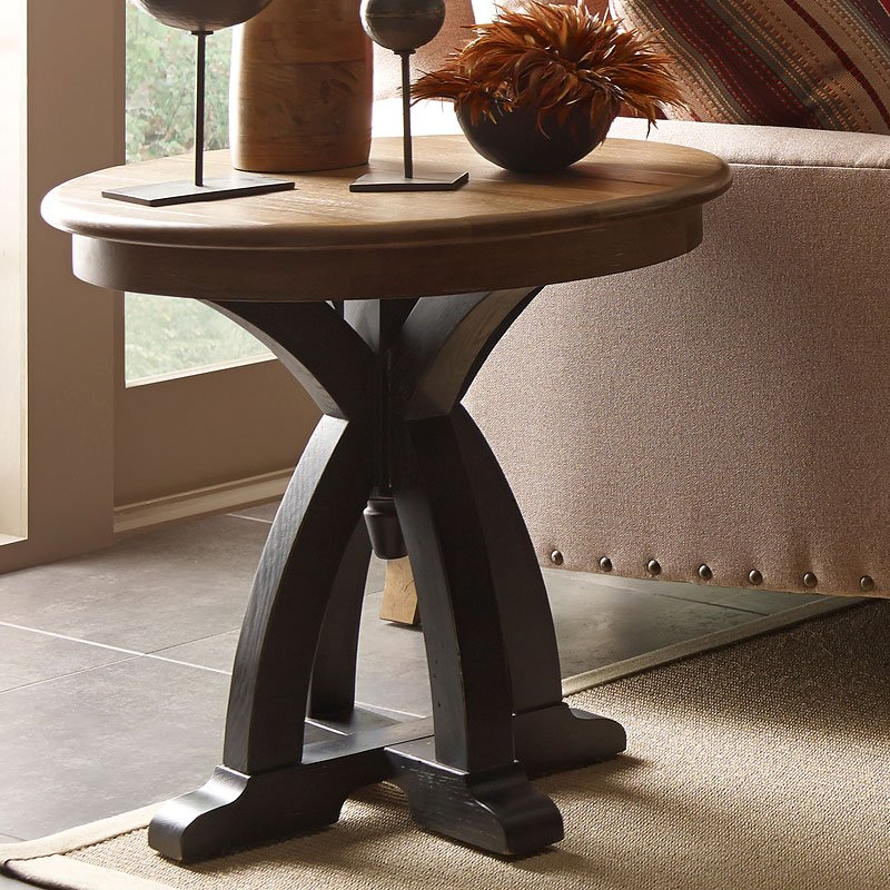 stone ridge round wood end table kincaid furniture furniture cart. Black Bedroom Furniture Sets. Home Design Ideas