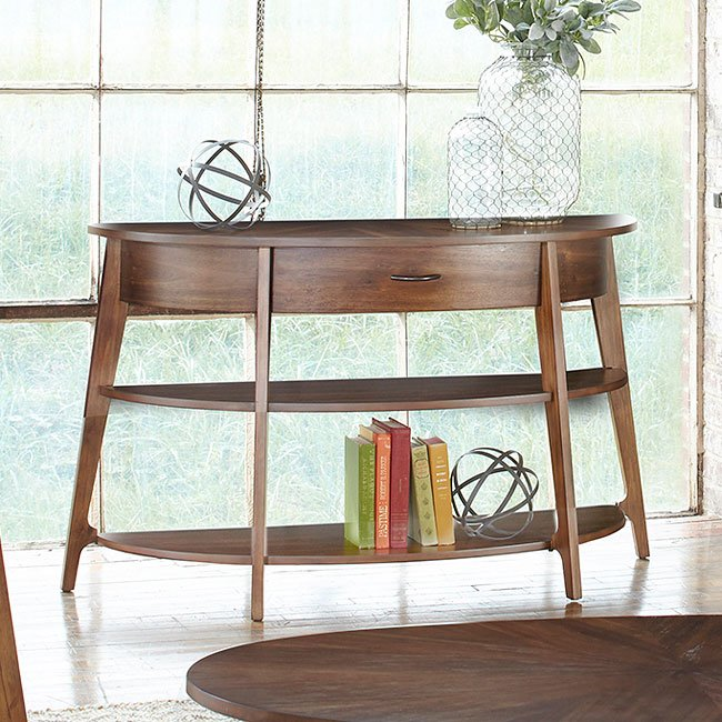 Landon Demi-Lune Sofa Table Liberty Furniture | Furniture Cart