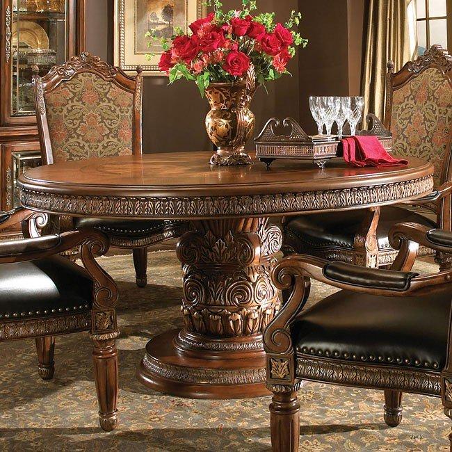 Michael Amini Dining Room Furniture: Villa Valencia Round Dining Room Set Aico Furniture, 1 Reviews