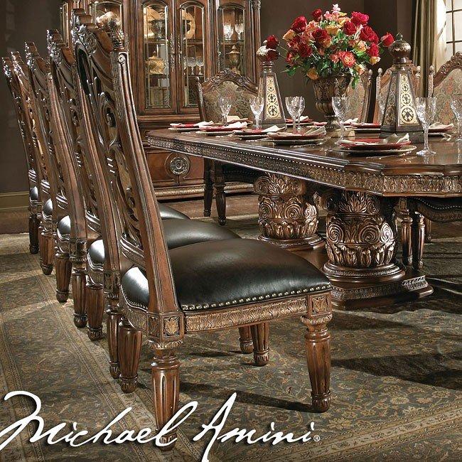 Villa Valencia Round Dining Room Set Aico Furniture 1