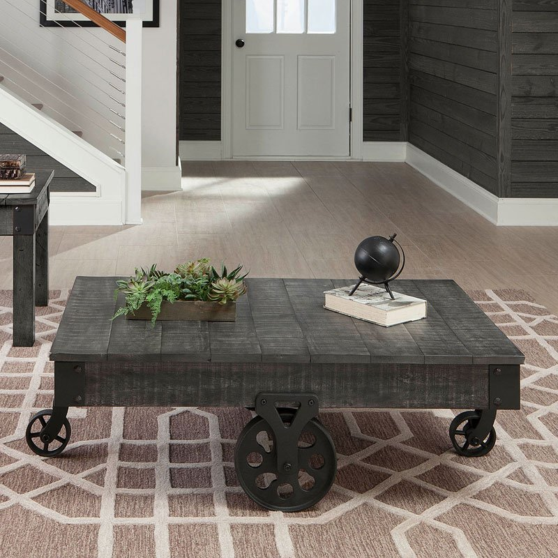 Ashley Furniture Distressed Coffee Table: Distressed Country Coffee Table (Rustic Grey) Coaster