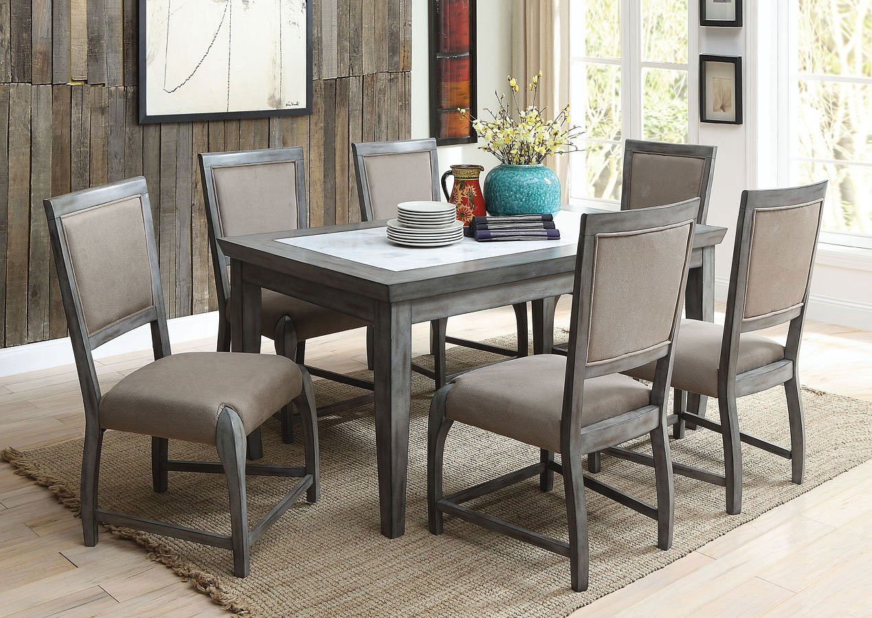Freira Marble Top Dining Room Set