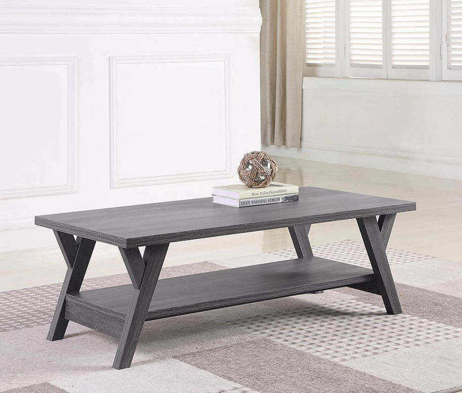 Distressed Coffee Table Sets: Distressed Grey Occasional Table Set Coaster Furniture
