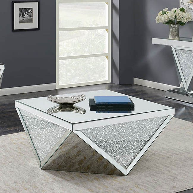 Triangle Encrusted Occasional Table Set Coaster Furniture