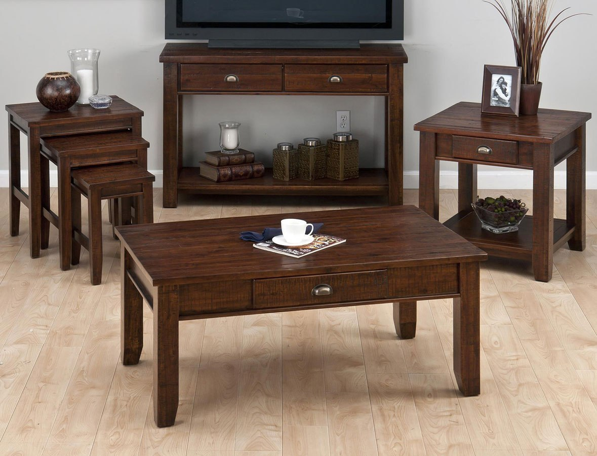 Urban Lodge Occasional Table Set (Brown)