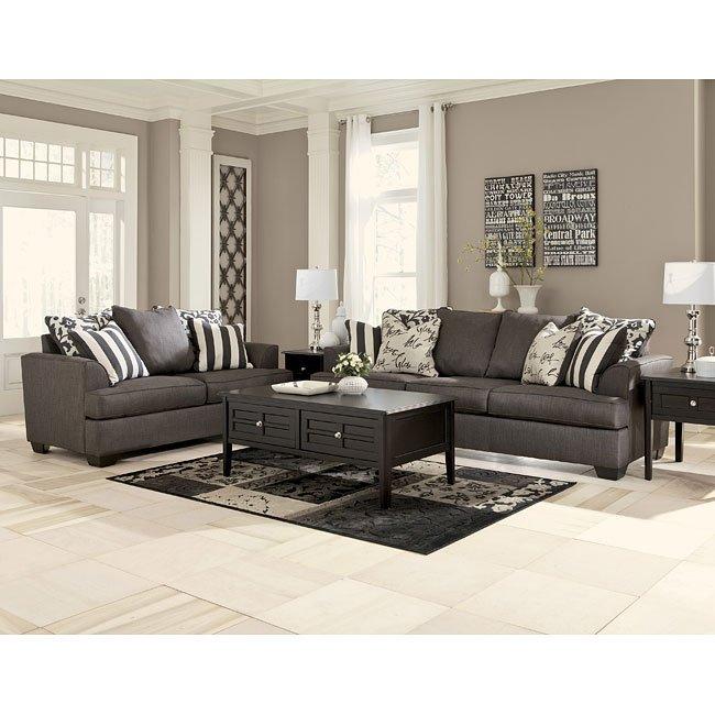 Levon Charcoal Living Room Set
