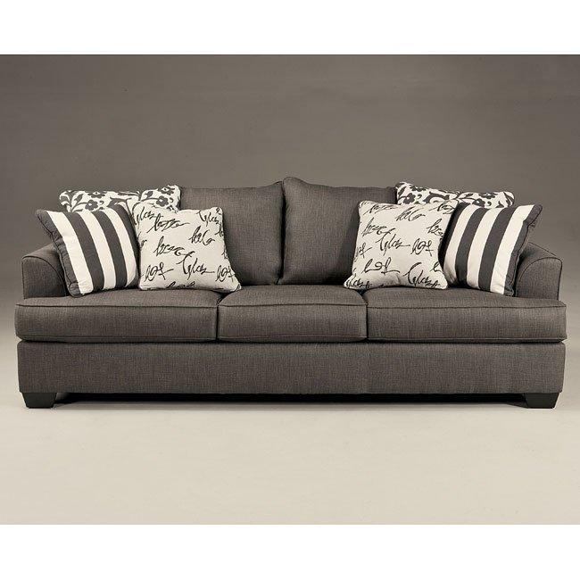 Best Brand Furniture Reviews: Levon Charcoal Sofa Signature Design, 7 Reviews