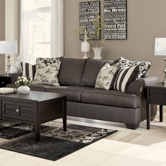 Levon Charcoal Queen Sofa Sleeper Signature Design, 4