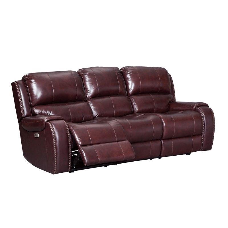Gilmanton Burgundy Power Reclining Sofa W Adjustable