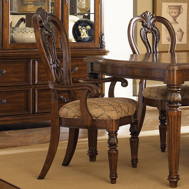 Messina Estates Seven Piece Traditional Dining Table And: Messina Estates Splat Back Arm Chair (Set Of 2) Liberty