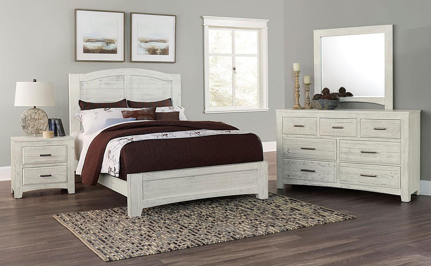Cottage Too Youth Mansion Panel Bedroom Set (Weathered
