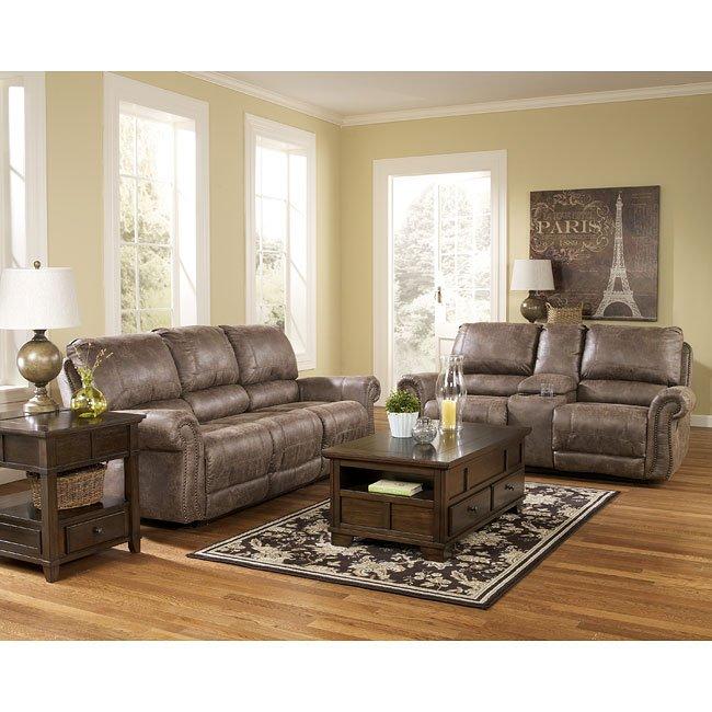 Oberson Gunsmoke Reclining Living Room Set Signature Design 2